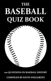 The baseball quiz book cover image