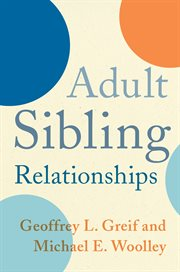 Adult sibling relationships cover image