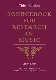 Sourcebook for research in music cover image