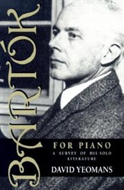 Bartâok for Piano