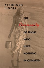 The community of those who have nothing in common cover image