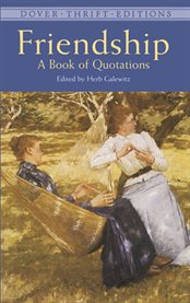 Friendship: a book of quotations cover image