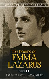 The Poems of Emma Lazarus, Volume Ii