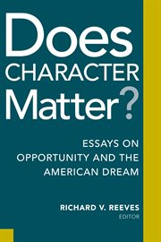 Does Character Matter?