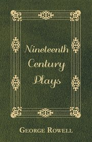 Nineteenth century plays cover image