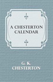 Chesterton Calendar
