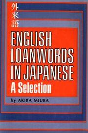 English Loanwords in Japanese