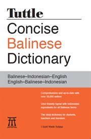 Tuttle Concise Balinese Dictionary