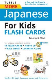 Tuttle More Japanes for Kids Flash Cards