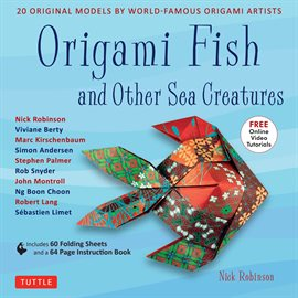 Cover image for Origami Fish and Other Sea Creatures Ebook