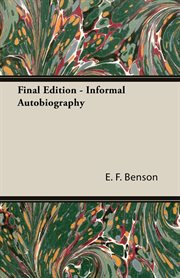 Final edition: informal autobiography cover image