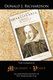 The complete merchant of venice. An Annotated Edition of the Shakespeare Play cover image