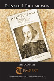 The complete tempest. An Annotated Edition of the Shakespeare Play cover image