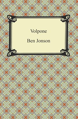 Cover image for Volpone, or, The Fox