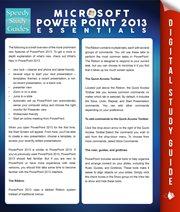 Microsoft Powerpoint 2013 Essentials