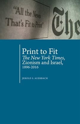 Cover image for Print to Fit