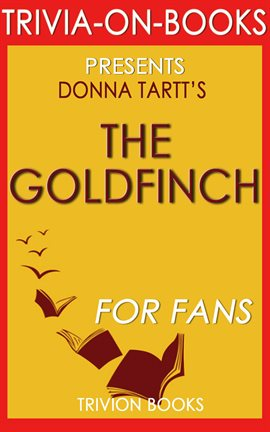 Cover image for The Goldfinch by Donna Tartt