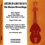 Arthur grumiaux: the boston recordings cover image