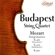String quartet in C, K. 465 : Dissonance ; String quartet in D, K. 499 : Hoffmeister ; String quartet in F, K. 590 cover image