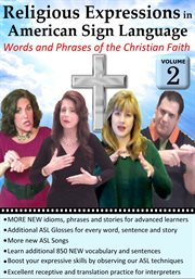 Religious expressions in american sign language, vol. 2 cover image
