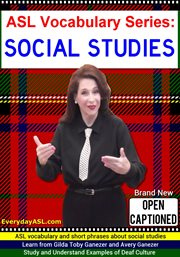 Asl vocabulary series: social studies cover image