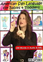 American sign language for babies & toddlers : 200 words in audio & ASL cover image