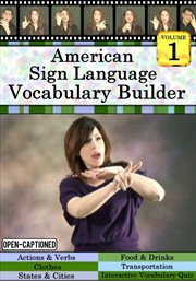 American Sign Language Vocabulary Builder