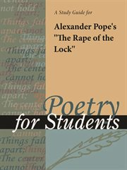 """A Study Guide for Alexander Pope's """"the Rape of the Lock"""""""