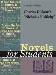 """A Study Guide for Charles Dickens' """"nicholas Nickleby"""""""