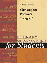 """A Study Guide for Christopher Paolini's """"eragon"""""""