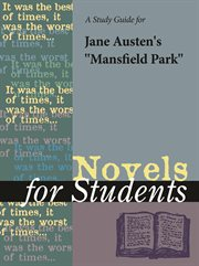 "A Study Guide for Jane Austen's ""mansfield Park"""