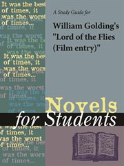 "A Study Guide for Peter Brook's ""lord of the Flies (film Entry)"""