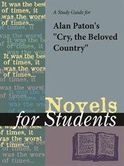 A Study Guide for Alan Paton's Cry the Beloved Country