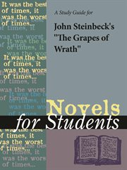 A Study Guide for John Steinbeck's the Grapes of Wrath