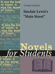 A Study Guide for Sinclair Lewis's Main Street