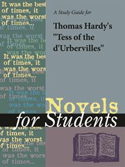 A Study Guide for Thomas Hardy's Tess of the D'urbervilles