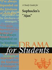 "A Study Guide for Sophocles's ""the Ajax"""