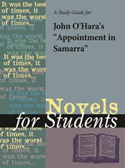 "A Study Guide for John O'hara's ""appointment in Samarra"""