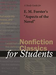 "A Study Guide for E. M. Forster's ""aspects of the Novel"""