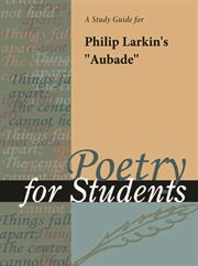 "A Study Guide for Philip Larkin's ""aubade"""