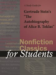 """A Study Guide for Gertrude Stein's """"the Autobiography of Alice B. Toklas"""""""