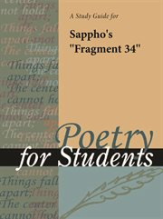 "A Study Guide for Sappho's ""fragment 34"""
