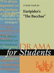 "A Study Guide for Euripides's ""the Bacchae"""