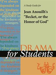"A Study Guide for Jean Anouilh's ""becket"""