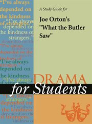 "A Study Guide for Joe Orton's ""what the Butler Saw"""