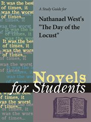 """A Study Guide for Nathanael West's """"the Day of the Locust"""""""