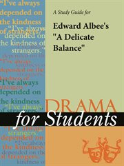 """A Study Guide for Edward Albee's """"delicate Balance: A Play"""""""