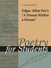 "A Study Guide for Edgar Allan Poe 's ""a Dream Within A Dream"""