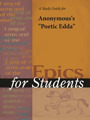 """A Study Guide for Anonymous's """"poetic Edda"""""""