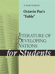 "A Study Guide for Octavio Paz's ""fable"""